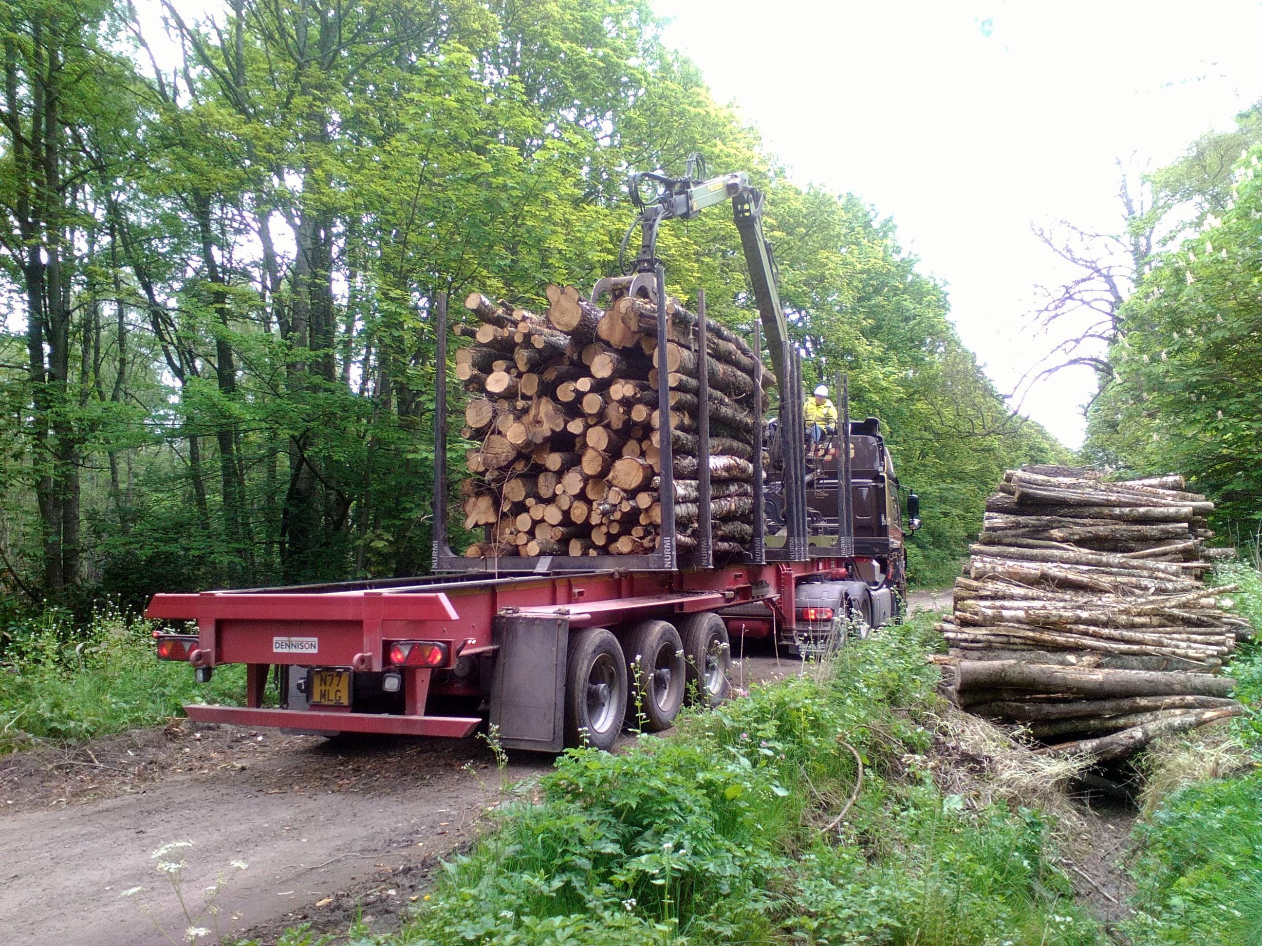 Loading hardwood