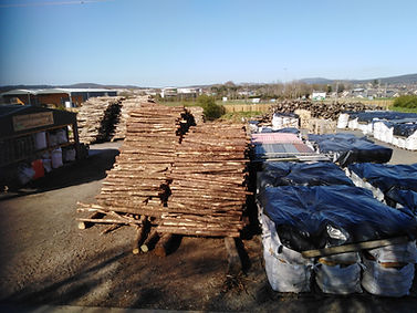 LFS Yard Roundwood Stacks & Stocks of Bags