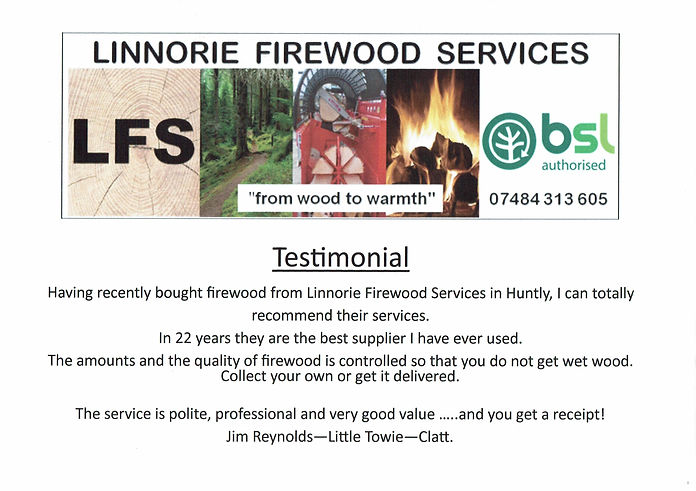Linnorie Firewood Services (LFS) - Aberdeenshire & Moray firewood logs supplier: sales unit bulk bag with slings of hardwood or softwood