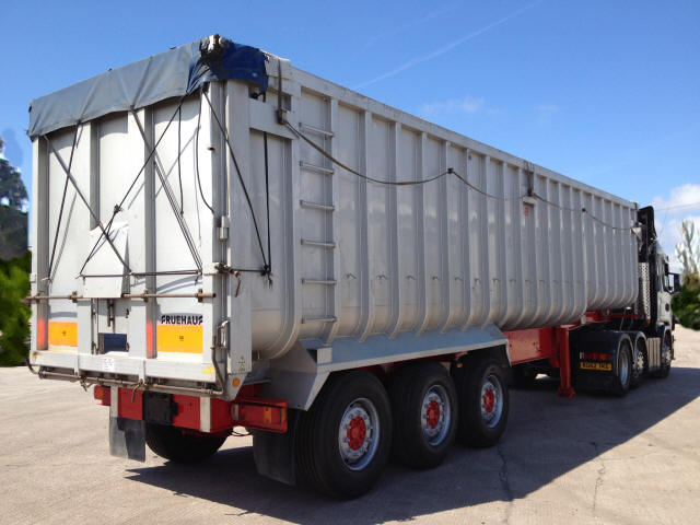 90m3 artic tipping trailer
