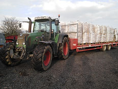 Flatbed Trailer with 32 bags of Firewood