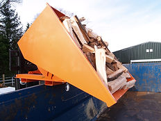 Grain Trailer 20m3 of Firewood filled wi