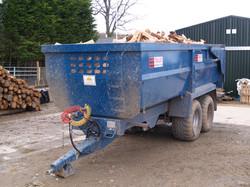 18 cubic metres of loose logs
