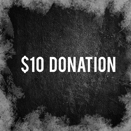 Ten Dollar Donation