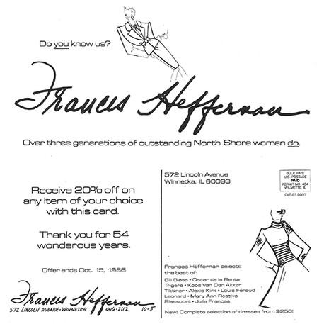 Frances Haffernan Postcard