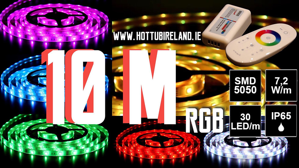 10M LED STRIP RGB COMPLETED SET WATERPROOF