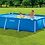Thumbnail: Intex Metal Frame Rectangular Pool 3834 L, Blue, 300 x 200 x 75 cm