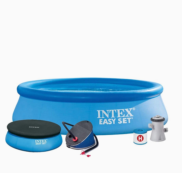 10ft x 30in Intex Easy Set Pool with Filter Pump and Cover