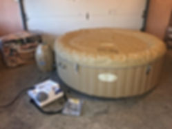 lay z spa palm spring used spa wit top cover