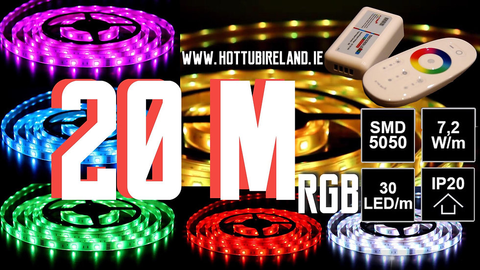 20M LED STRIP RGB COMPLETED SET NOT WATERPROOF