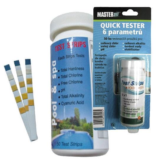 6 Parameters Chlorine Water Test Strips