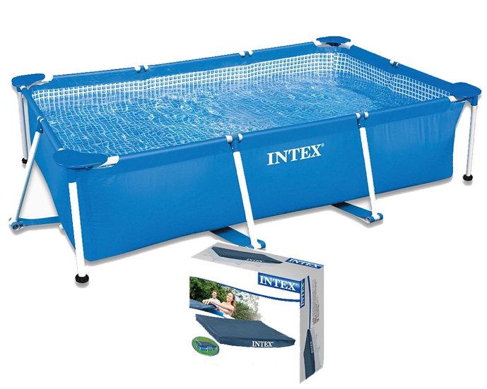 Intex Metal Frame Rectangular Pool 3834 L, Blue, 300 x 200 x 75 cm