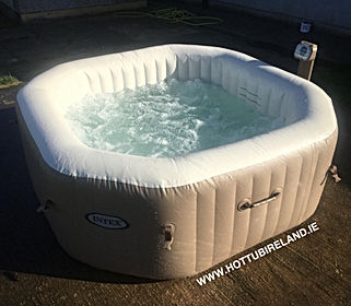 intex octagonal pure spa used hot tub