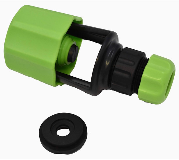 Mixer tap connector for garden hose