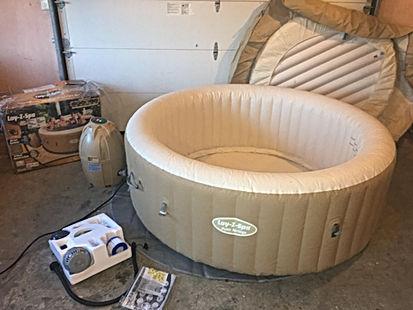 lay z spa palm spring used hot tub