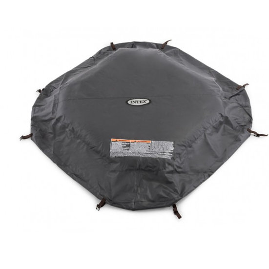 Intex pure spa octagonal cover for 4 person spa BLACK
