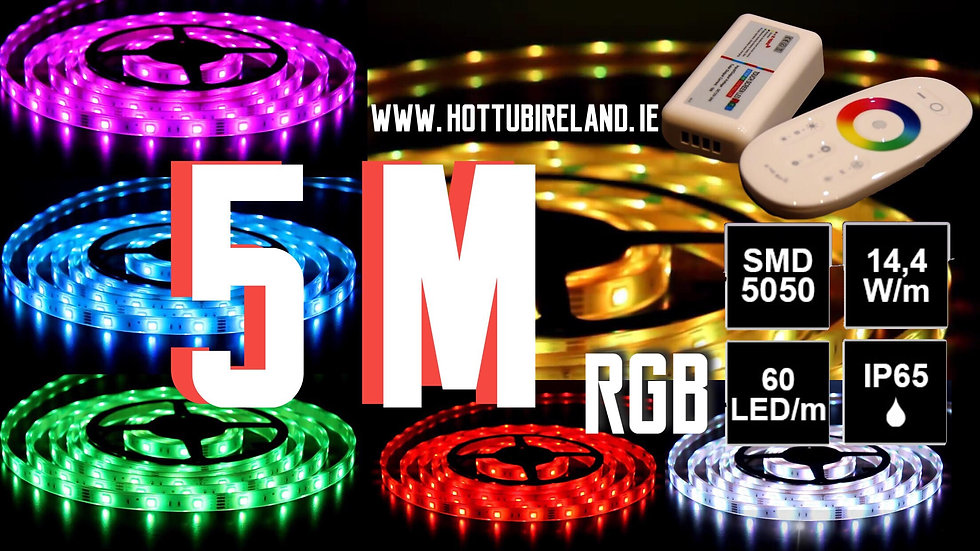 5M LED STRIP RGB COMPLETED SET WATERPROOF