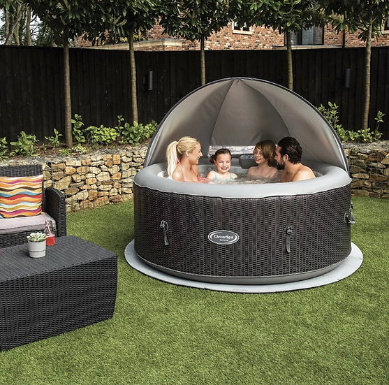 Clever Spa Round Hot Tub Canopy 2-4 person hot tub
