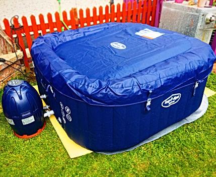 lay z spa hawaii blue square used hot tub