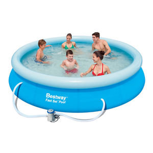 Bestway Fast Set Round Inflatable Pool 366 X 76 Cm