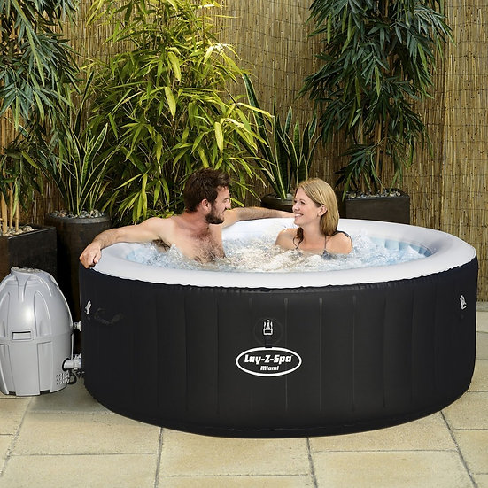Lay Z Spa Miami Inflatable Hot Tub 2-4 Adults.