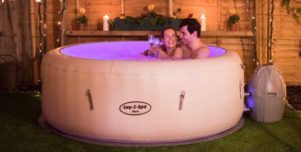 LAY-Z-SPA Paris With LED Lights Inflatable hot tub