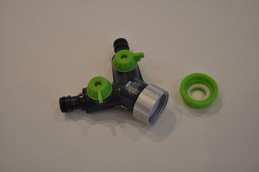Water tap splitter 2-Way splitter.