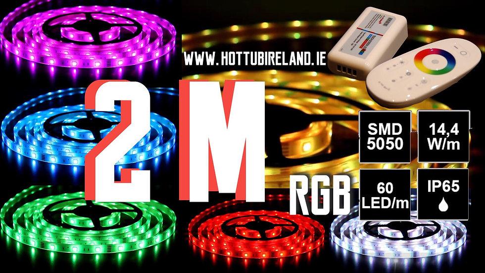 2M LED STRIP RGB COMPLETED SET WATERPROOF