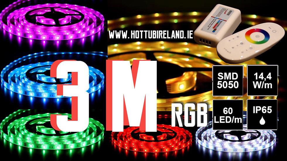 3M LED STRIP RGB COMPLETED SET WATERPROOF