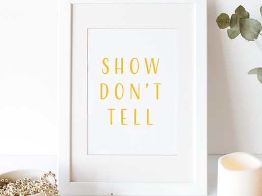 Show don't tell - die goldene Regel?