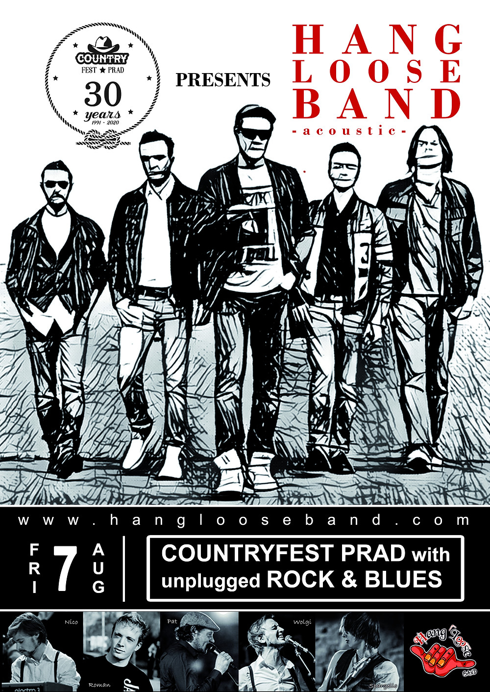 Hang Loose Band @ Countryfest Prad 2020 - Flyer