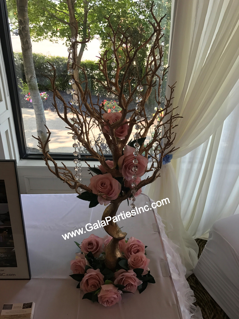 DIY Gold Manzanita Centerpiece Tree Wedding Event