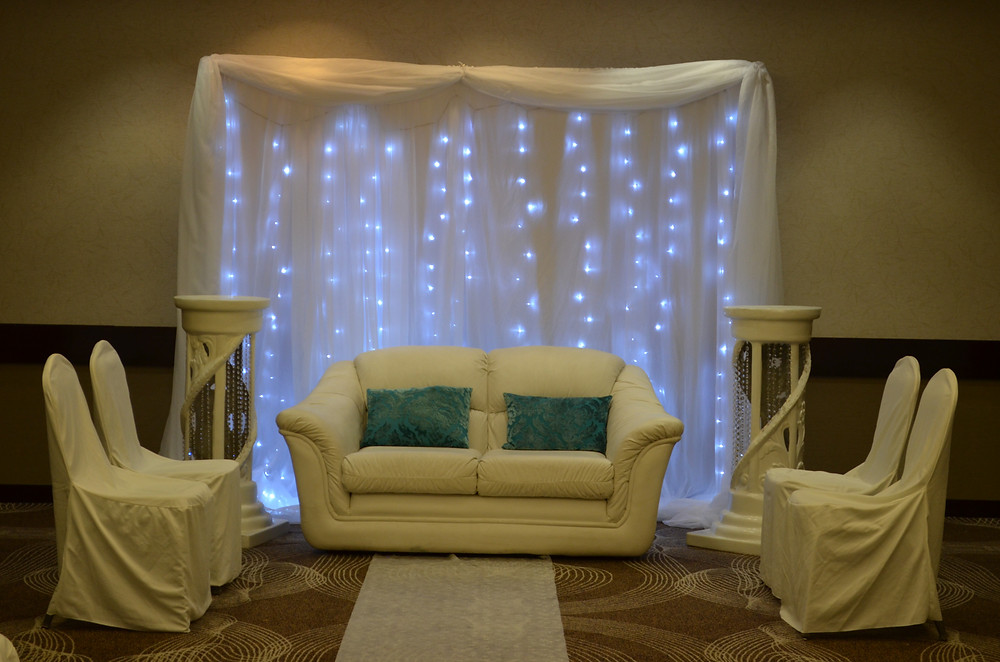 Fairy light Fairytale Wedding Ceremony Reception Backdrop