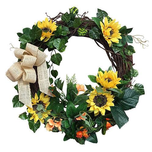 """Wreath-B01hkmxnf4-21""""Sunflower Wreath"""