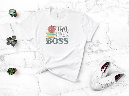 Teach Like a Boss Retro Vintage Triblend Tee