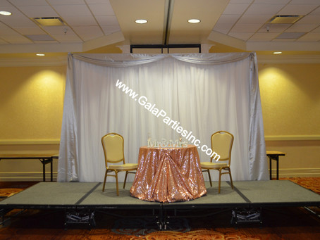 DIY Wedding Backdrop Virtual COVID Ideas
