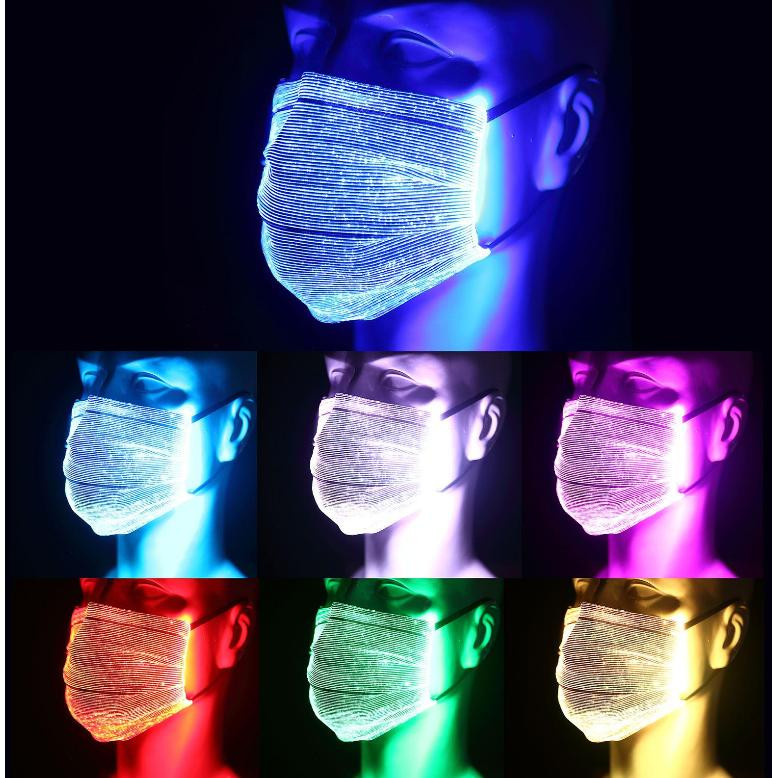 7 Colors Reusable LED Face Mask Wedding Party Event Birthday