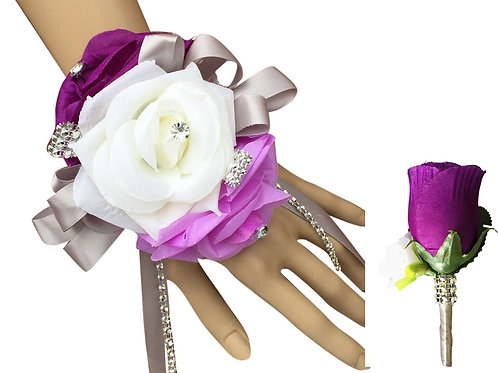 Set:Wrist Corsage and Boutonniere