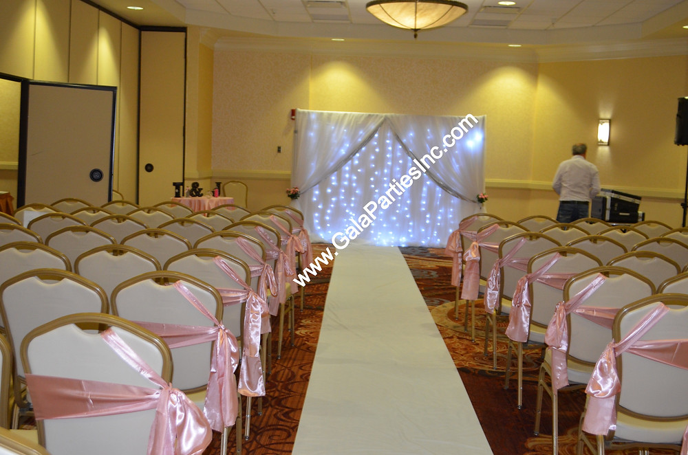 Fairy Light Fairytale Wedding Ceremony Backdrop