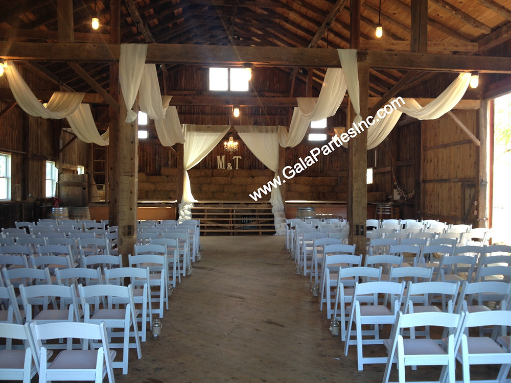 Wedding Ceremony Barn Draping