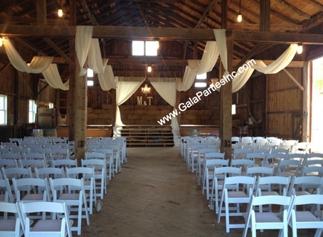 DIY Draping For Barn Wedding