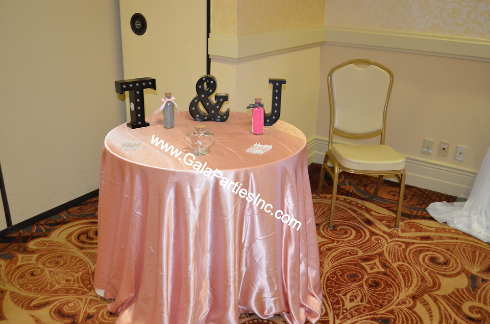 Blush Wedding Ceremony Unity Table Decor DIY Sand Ceremony