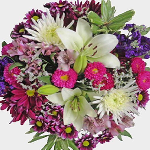 DIY Pink & Purple Fresh Flower Centerpiece