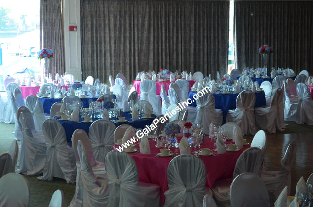 Pink White Blue Decor
