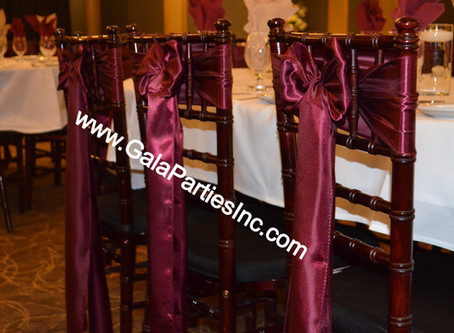 Best Burgundy Wedding Chair Sashes To Buy