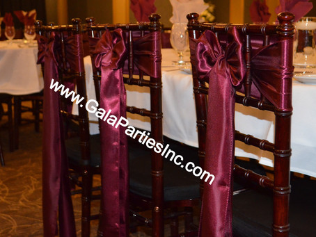 Best Burgundy Wedding Chair Sashes To Buy