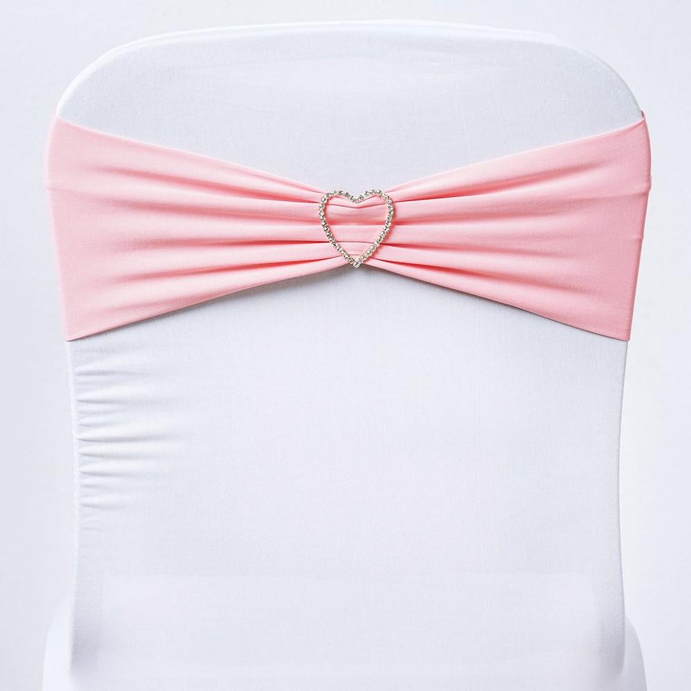 Pink Spandex Stretch Chair Sash Wedding DIY Decor PArty
