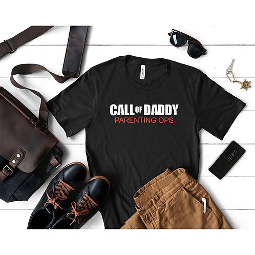 Call OF Daddy Parenting Ops Tee