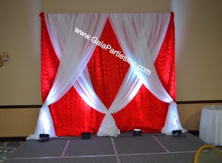 DIY Wedding Backdrop Red & White