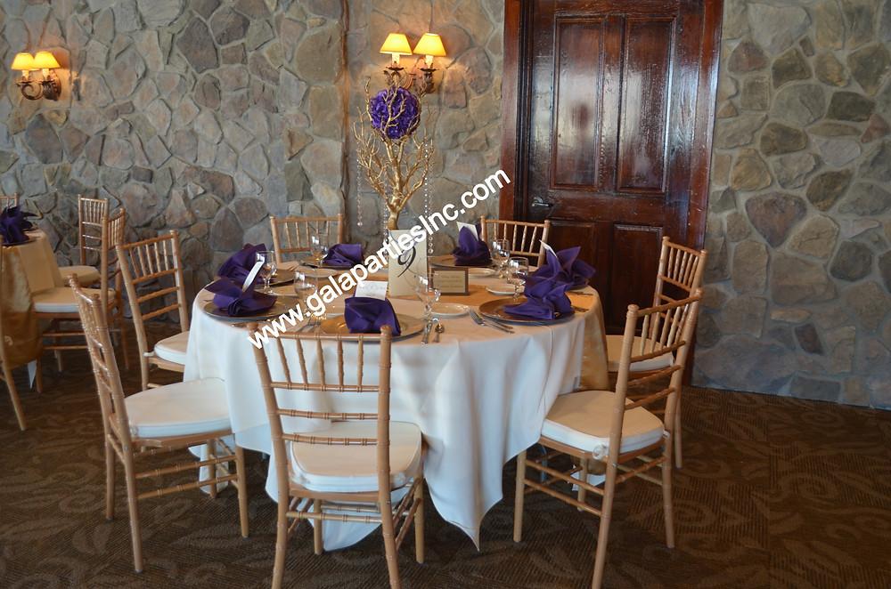 DIY Gold Manzanita Tree Centerpiece  Wedding Party
